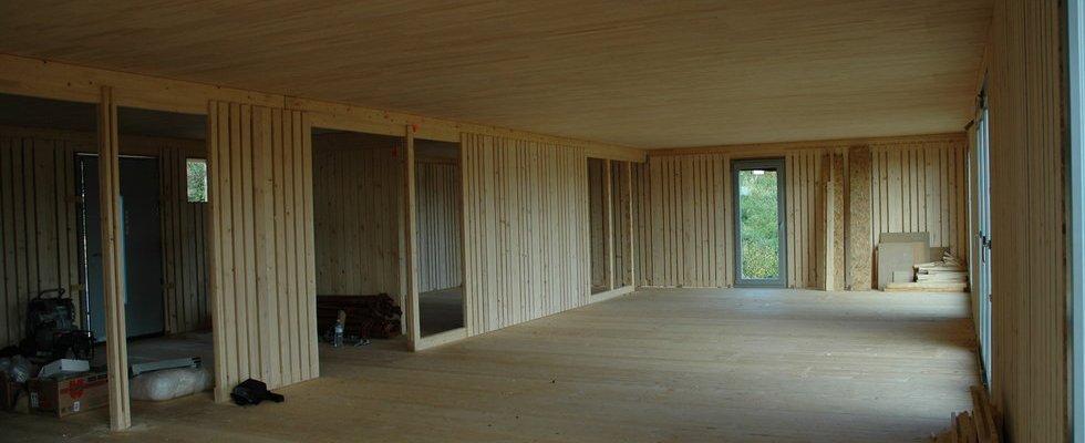 Enveloppe bois massif plis croisés type LIGNOTREND